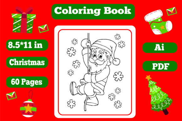 Christmas Coloring Book for Kids 2 - Kdp Graphic Item