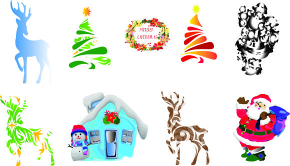 Christmas Decoration,ornament, Clipart Graphic Graphic Templates By AlaBala