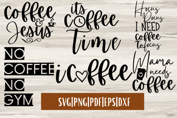 Print on Demand: Coffee SVG Bundle Mini - 6 | Coffee Quot Graphic Crafts By Mockup Venue