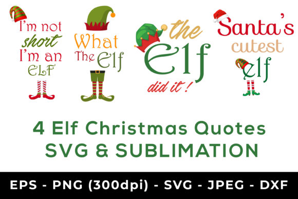 Print on Demand: Elf Christmas Sublimation, Christmas Svg Graphic Crafts By AdMaioraDesign
