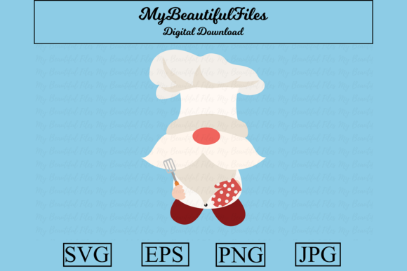 Print on Demand: Gnomes Chef Clipart Illustration Graphic Illustrations By MyBeautifulFiles