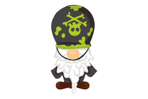 Gnomes in Halloween Clip Art Graphic