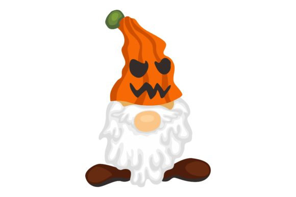 Gnomes in Halloween Event Clip Art Graphic