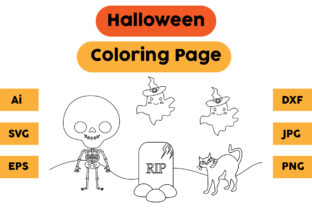 Halloween Coloring Page 41 Graphic Coloring Pages & Books Kids By isalsemarang