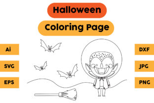Halloween Coloring Page 42 Graphic Coloring Pages & Books Kids By isalsemarang