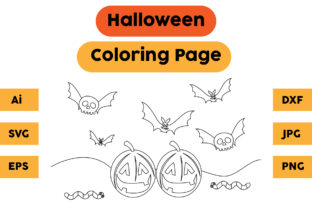 Halloween Coloring Page 43 Graphic Coloring Pages & Books Kids By isalsemarang
