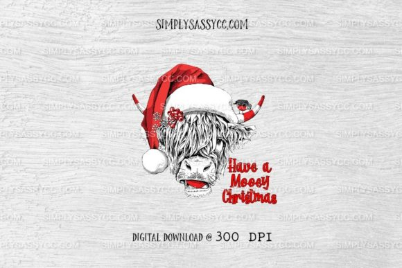 Print on Demand: Have a Mooey Christmas, Cow Graphic Illustrations By Simply Sassy CC