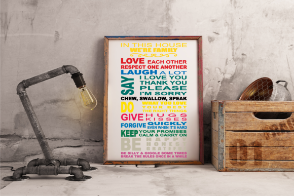 House Rules Logo Graphic Crafts By Digital Creations Art Studio
