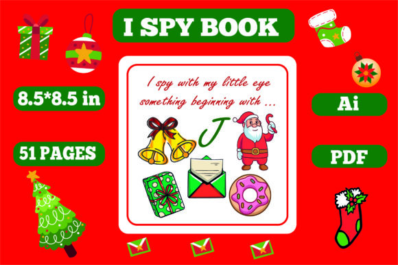 Print on Demand: I Spy Christmas for Kids - Kdp Interiors Graphic KDP Interiors By KDP_Interior_101