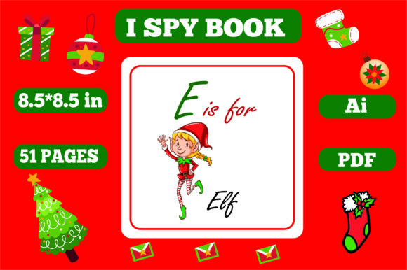 I Spy Christmas for Kids - Kdp Interiors Graphic Download