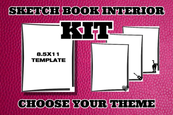 KDP Sketchbook/Sticker Book Interior Kit Graphic KDP Interiors By .99 Cent Digital Products