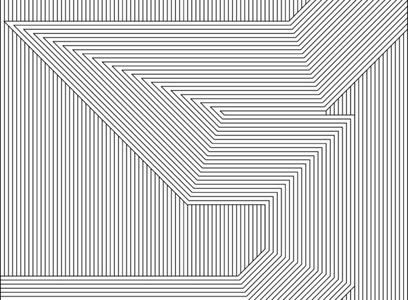 Lines Art Pattern of Labyrinth Graphic Patterns By asesidea