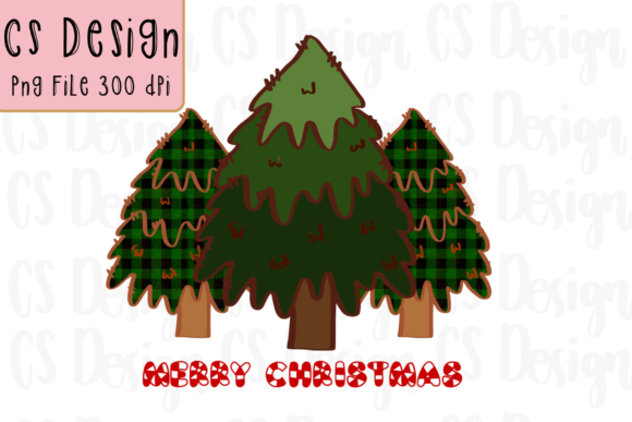 Print on Demand: Merry Christmas Tree Sublimation Graphic Graphic Crafts By CSDesign