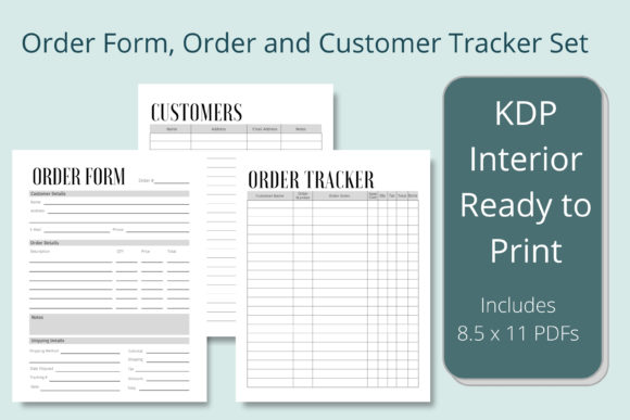 Print on Demand: Order Form, Order and Customer Tracker Graphic KDP Interiors By Hustle Smart Shop