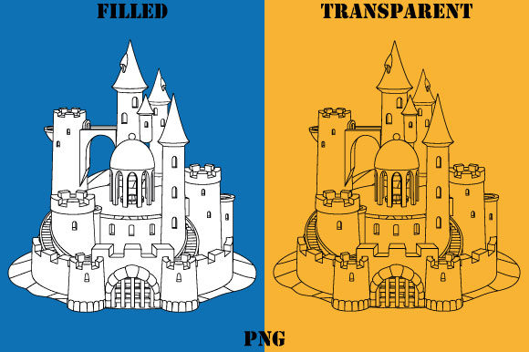 Print on Demand: Sandcastle Coloring Page Kids Graphic Coloring Pages & Books Kids By GraphicsFarm