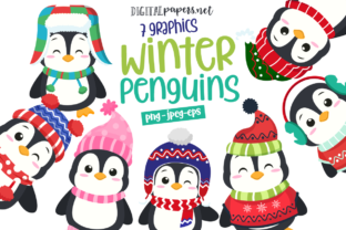Print on Demand: Winter Penguins Graphic Illustrationen By DigitalPapers