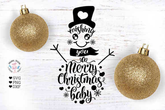 Wishing You a Merry Christmas - Snowman Graphic Crafts By GraphicHouseDesign