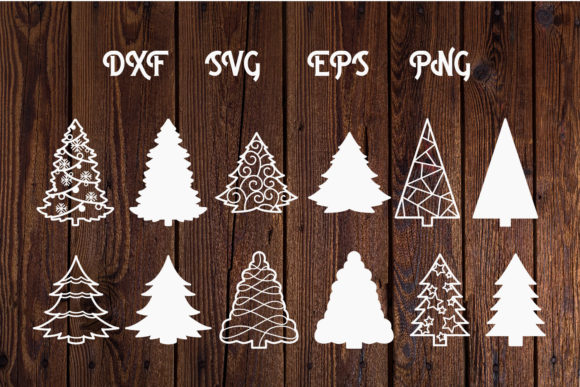 Print on Demand: Christmas Tree Svg Cut Files Graphic Print Templates By dadan_pm