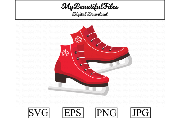 Print on Demand: Ice Skates Clipart Graphic Illustrations By MyBeautifulFiles