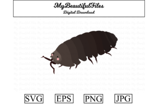 Print on Demand: Pill Bug Clipart Illustration Graphic Illustrations By MyBeautifulFiles