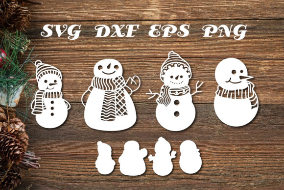 Print on Demand: Snowman Svg Cut Files Graphic Print Templates By dadan_pm