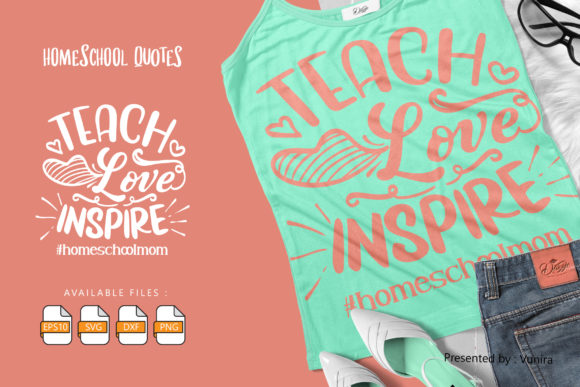 10 Homeshool Bundle | Lettering Quotes Graphic Popular Design