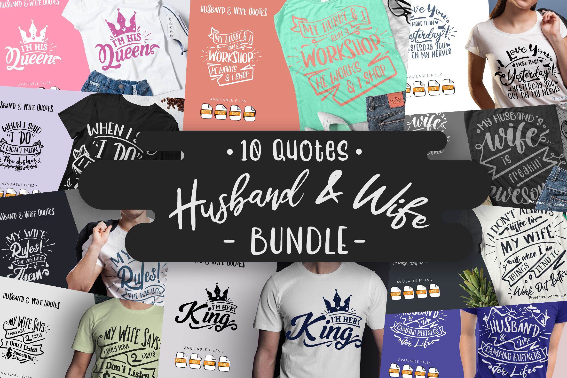10 Husband & Wife | Lettering Quotes SVG File
