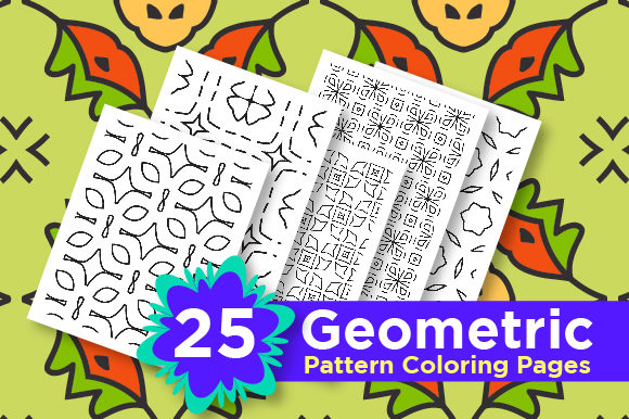 Print on Demand: Abstract Pattern Background Set Graphic Coloring Pages & Books Adults By Riduwan Molla