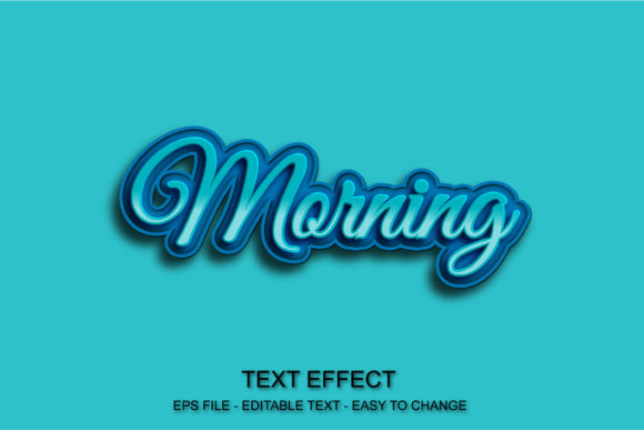 Blue Text Effect Morning Style Editable Graphic Layer Styles By ve.art09