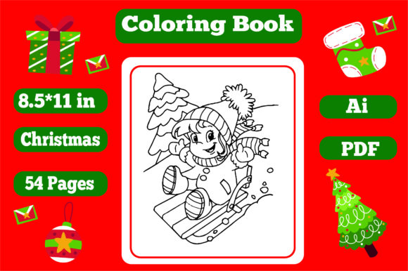 - Christmas Coloring Book For Kids 3 - Kdp (Graphic) By KDP_Interior_101 ·  Creative Fabrica