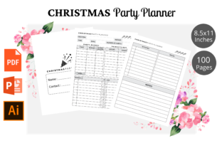 Print on Demand: Christmas Party Planner KDP Interior Graphic KDP Interiors By KDPWarrior