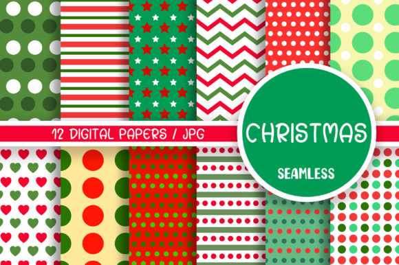Christmas Seamless Pattern Digital Paper Graphic Patterns By PinkPearly