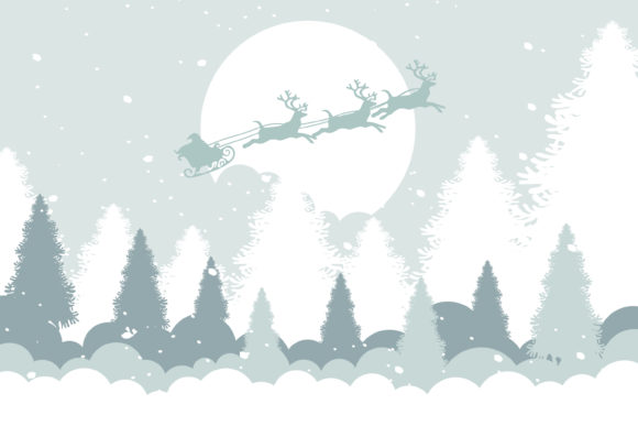 Print on Demand: Christmas Tree and Snow Illustration Gráfico Illustrations Por edywiyonopp