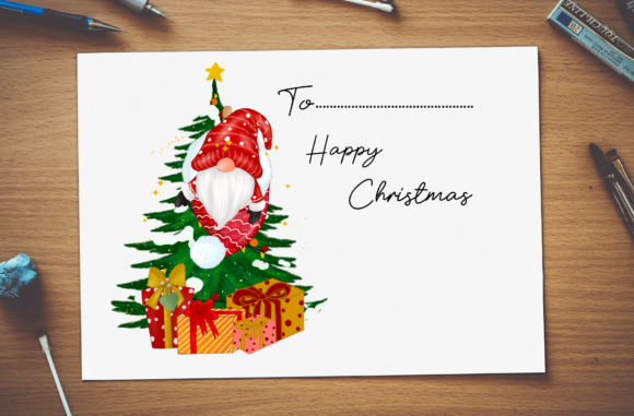 Christmas Cute Gnomes Clipart Graphic Image