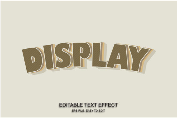 Display Font Effect Retro Style Graphic Layer Styles By ve.art09