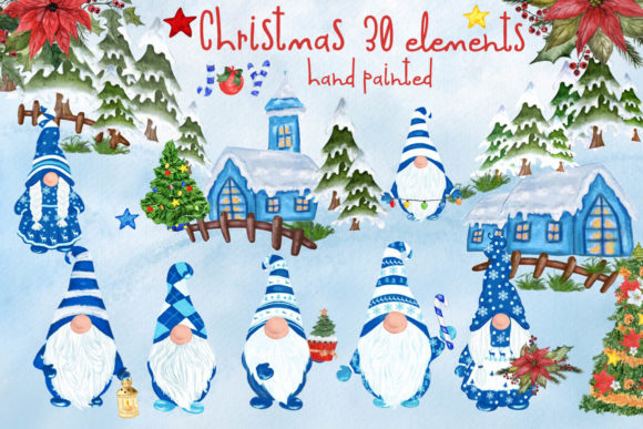 Gnomes Clipart Christmas Clipart Graphic Illustrations By vivastarkids