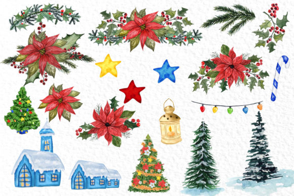 Gnomes Clipart Christmas Clipart Graphic Download