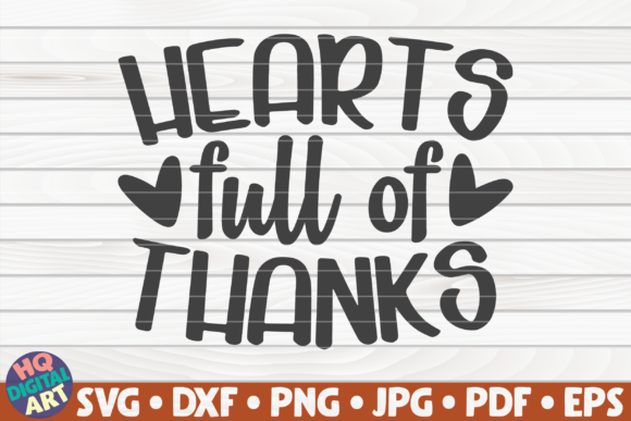Print on Demand: Hearts Full of Thanks SVG | Thanksgiving Graphic Crafts By mihaibadea95