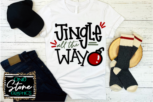 Jingle All the Way, Chrismtas Svg Graphic Crafts By OneStoneGraphics