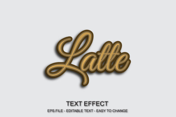Latte Font Effect Editable Text Graphic Layer Styles By ve.art09