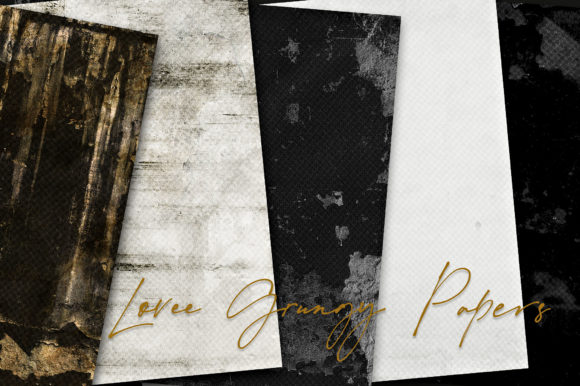 Print on Demand: Lovee Grungy Papers Graphic Backgrounds By LilBitDistressed
