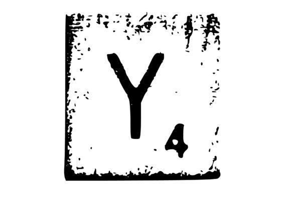 Print on Demand: Mono Letter 'Y' Scrabble Letter Graphic Crafts By GraphicsBam Fonts