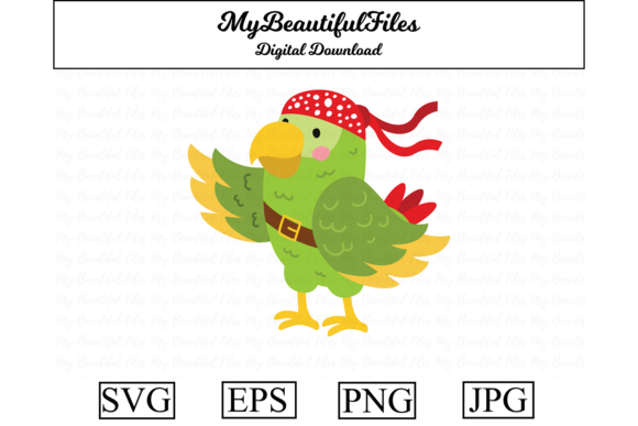 Pirates Parrot Clipart Illustration Graphic By Mybeautifulfiles Creative Fabrica