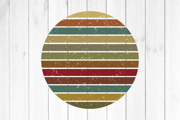 Print on Demand: Retro Sun Vintage Graphic Backgrounds By rayan