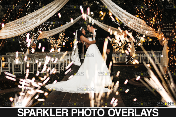 Wedding Sparkler Overlays Graphic Actions & Presets By 2SUNS