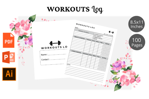 Print on Demand: Workouts Log  Book KDP Interior Graphic KDP Interiors By KDPWarrior