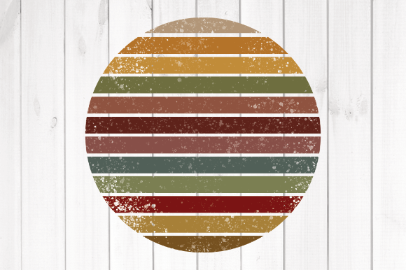 Print on Demand: Retro Sun 1 Graphic Backgrounds By rayan