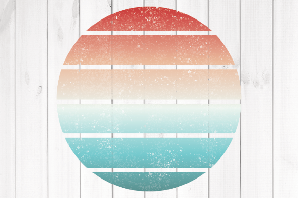 Print on Demand: Retro Sun 2 Graphic Backgrounds By rayan