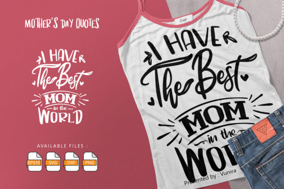 10 Mother's Day Bundle | Lettering Quote Graphic Design