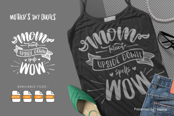 10 Mother's Day Bundle | Lettering Quote Graphic Image